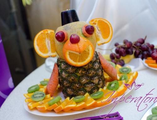 Sculpturi fructe in forma de animale